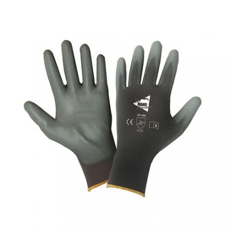 Gants polyuréthane gris support nylon jauge 13