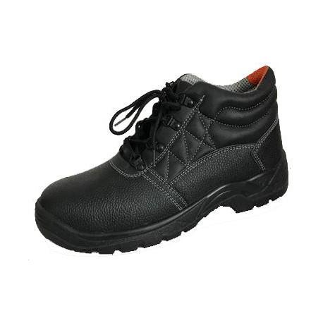 Chaussure de sécurité haute cuir S1P fleur de vachette noir