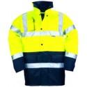 Parka polyester hi-viz jaune/marine 3M