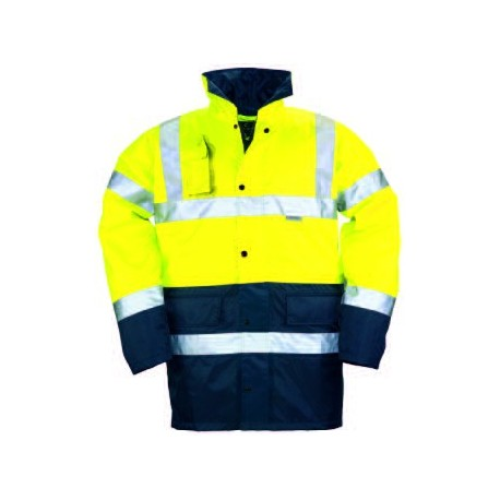 Parka polyester hi-viz jaune/marine,3 M