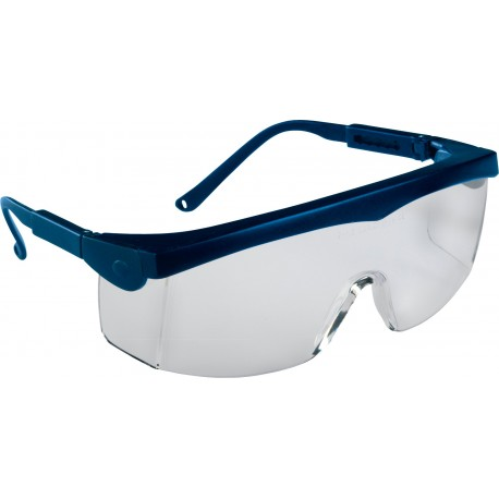 Lunettes de protection PIVOLUX monture bleue - oculaire incolore
