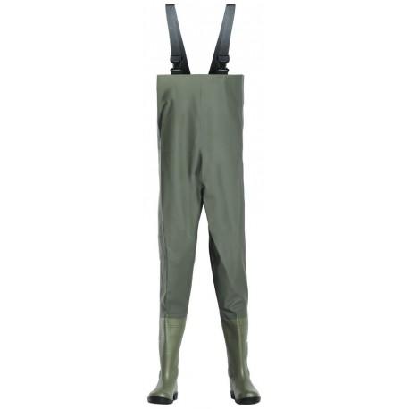 Waders de sécurité PVC vert CHEST SAFETY SB.P.E