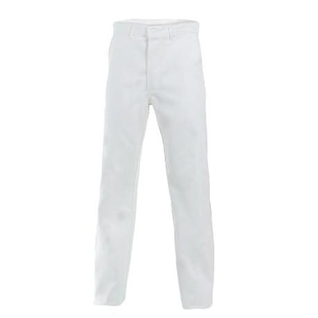 Pantalon de travail 100 % coton blanc