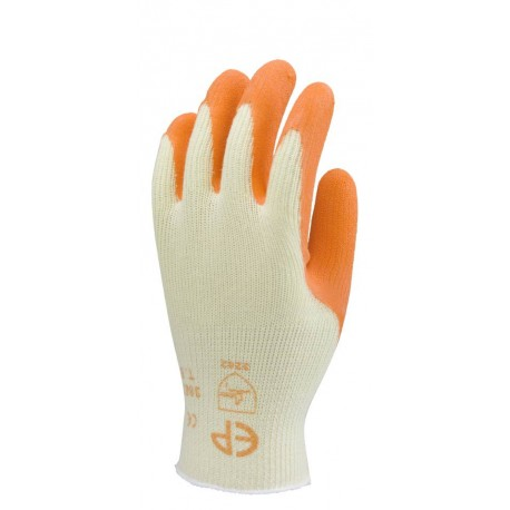 Gants Grip jaune enduit latex orange