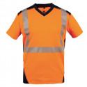 T shirt BALI orange fluo / marine